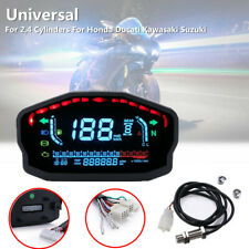Motorcycle Bike LED LCD Speedometer Odometer Backlight km/h mph Gear Display Kit