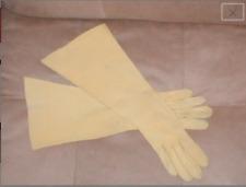 Vintage 1940's Yellow cotton-suede Dress Gloves by Crescendoe