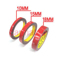 3M Double Face Sided Tapes pack 10mm,15mm,18mm 3 Meters for Automotive Usage