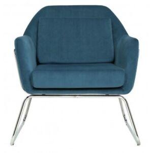 BRAND NEW Argos Home Juliette Velvet Fabric Accent Chair - Teal