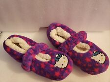 Girls Hello Kitty Slippers size 10 Pink Purple Soft Comfortable