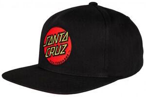 Santa Cruz Classic Dot Cap Black Skateboard Cap One Size