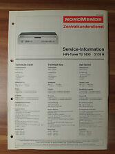 HiFi Stereo Tuner TU1400 0.139H Nordmende Service Manual Serviceanleitung