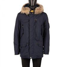PARAJUMPERS Parka Daunenjacke Jacke RIGHT HAND Light mit Pelz Navy Blau 08903