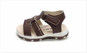 New Infant/Toddlers Open Toe Sandals Brown Size 2 ~ 7