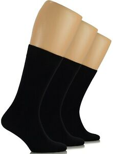 MEN Dress Crew BAMBOO Socks, Solid Colors, Business , MEDIUM, Casual, 3-Pair
