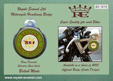 Royale AUTO MOTO PROIETTORE BADGE-BSA Bantam GRAN BRETAGNA-b3.1610