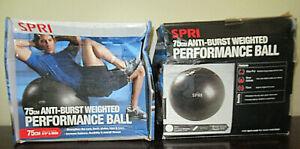 "SPRI 75cm Anti-Burst Weighted Performance Ball for 6'3""+ 02-71654"