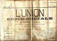 Journal L'Union Commerciale 1862. Pour les départements du Sud-Ouest.