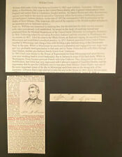 William Gwin SIGNED Cut California's Senator President Jackson D1885 AUTOGRAPHED