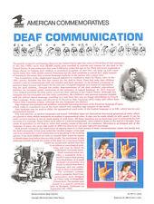 #2783-84 29c Deaf  Communications USPS Commemorative Stamp Panel  #424