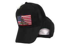 USA Gadsden Don't Tread On Me American Patch Black Embroidered Cap Hat (RAM)