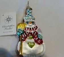 New ListingChristopher Radko Glass Snowman Chris 00004000 tmas Ornament - Snow Stack