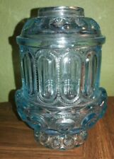WESTMORELAND ICE BLUE GLASS FAIRY LIGHT LAMP FENTON RARE