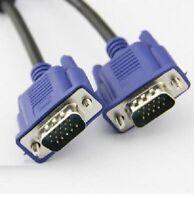 3 METRE VGA/SVGA 15 PIN MALE TO MALE PC MONITOR TV LCD PLASMA LED TFT CABLE LEAD