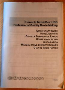 "Kurzanleitung/Gebrauchsanleitung ""Pinnacle MovieBox USB"""