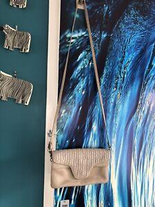 Pierre Cardin Beige Leather Shoulder Bag.