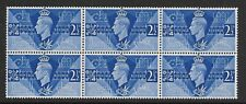 1946 VICTORY 2.5d BLOCK OF 6 SUPERB UNMOUNTED MINT