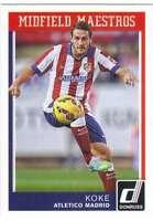 2015 Panini Donruss Soccer Midfield Maestros #15 Koke Atletico Madrid