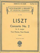 LISZT CONCERTO NO. 2  A MAJOR PIANO SOLO SHEET MUSIC BOOK TWO PIANOS