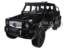 MERCEDES G 63 AMG 6X6 BLACK 1:24 DIECAST MODEL CAR BY WELLY 24061