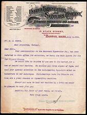 1898 United Typewriter and Supplies Co Boston Vintage Letter Head history