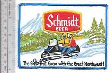 Snowmobile & Schmidt Beer 1970 Promo The Brew that Grew with the Northwest Patch