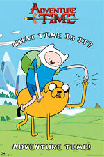 """ADVENTURE TIME POSTER """"WHAT TIME IS IT"""" LICENSED """"BRAND NEW"""""""