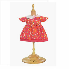"""Corolle 14"""" MISS COROLLE CHERRY RED DRESS SET Toddler Dolls Pink Bow NEW France"""