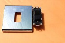 Deta G3516BK 20A 2 vías + Apagado Retráctil Negro Interruptor/chromesurround/marco rejilla
