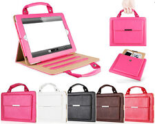 Leather Magnetic Stand Handbag Briefcase Cover For Apple iPad+Wallet Phone Pouch