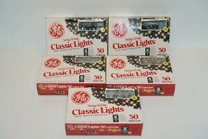 Vintage GE String-A-Long Classic Lights Lot of 5 Boxes 50 Outdoor Multi Color