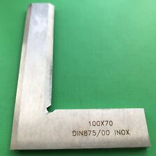 100 x70mm Precision Bevel Edge Square Grade 00 Stainless