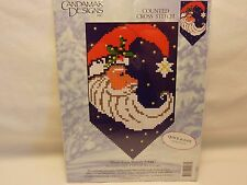 MOON SANTA BANNER CANDAMAR DESIGNS COUNTED CROSS STITCH NEW NO.5187