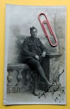 1917 PC RP WW1 Canadian Scottish  Soldier Hythe Kent Purdie Family Collection