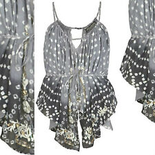ALLSAINTS NARNIA EMBELLISHED SEQUIN KAFTAN TIE DYE TOP COMPLETELY SOLDOUT £125