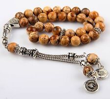 Islamıc Prayer Beads,JASPER stone  turkish tasbih,Tesbih Misbaha 33 beads