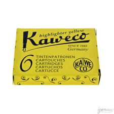 Pk/6 Kaweco Fountain Pen Ink Cartridges, Highlighter Yellow