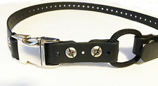 "Educator 3/4"" Black Quick Snap Metal Buckle Biothane Dog Bungee  Strap - 33""L"