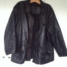 Mens Vintage Jaeger Leather Zip Up Jacket - Black Cost £500 great condition