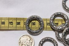 25mm in diameter Tibetan Silver Donut Finding Spacer Connector Bead/6 pieces