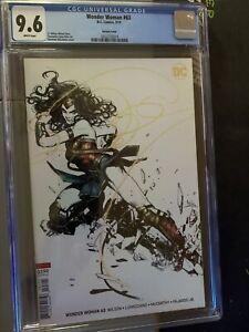 Wonder Woman #63 (Kamome Shirahama Variant, Cover B), DC Comics - CGC 9.6