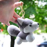 EG_ Lovely Husky Dog Plush Doll Toy Keychain Keyring Pendant Bag Car Key Holder