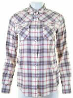 CREW CLOTHING CO. Womens Shirt Size 10 Small Multicoloured Check Cotton  DM06