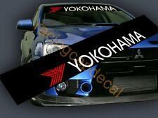 Yokohama Sun Strip Visor windshield banner Decal Sticker for advan evo gtr civic