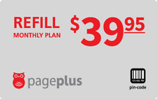 PagePlus  Prepaid $39.95 Refill Top-Up Prepaid Card ,PIN / RECHARGE