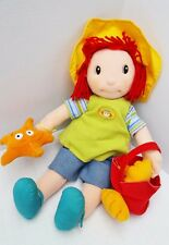 Zapf Doll Maggie Raggies Creations Plush Doll Sea Shell Red Yarn Hair Raggedy