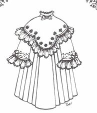 """Sewing Pattern fits 13-14"""" Doll Dress Victorian German French Little Darling 681"""