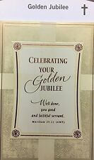 A7 HALLMARK 50 YEARS GOLDEN JUBILEE PRIEST  FATHER MINISTER CARD