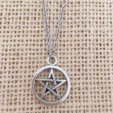 Morbidmike's Small Pentagram Necklace Supernatural Silver Color FREE USA SHIP